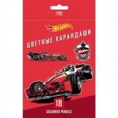 Карандаши 18цв HOT WHEELS Hatber BKc_18044/8/Китай
